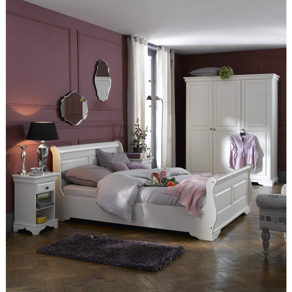 Idee deco chambre gris for Decoration mur de chambre adulte