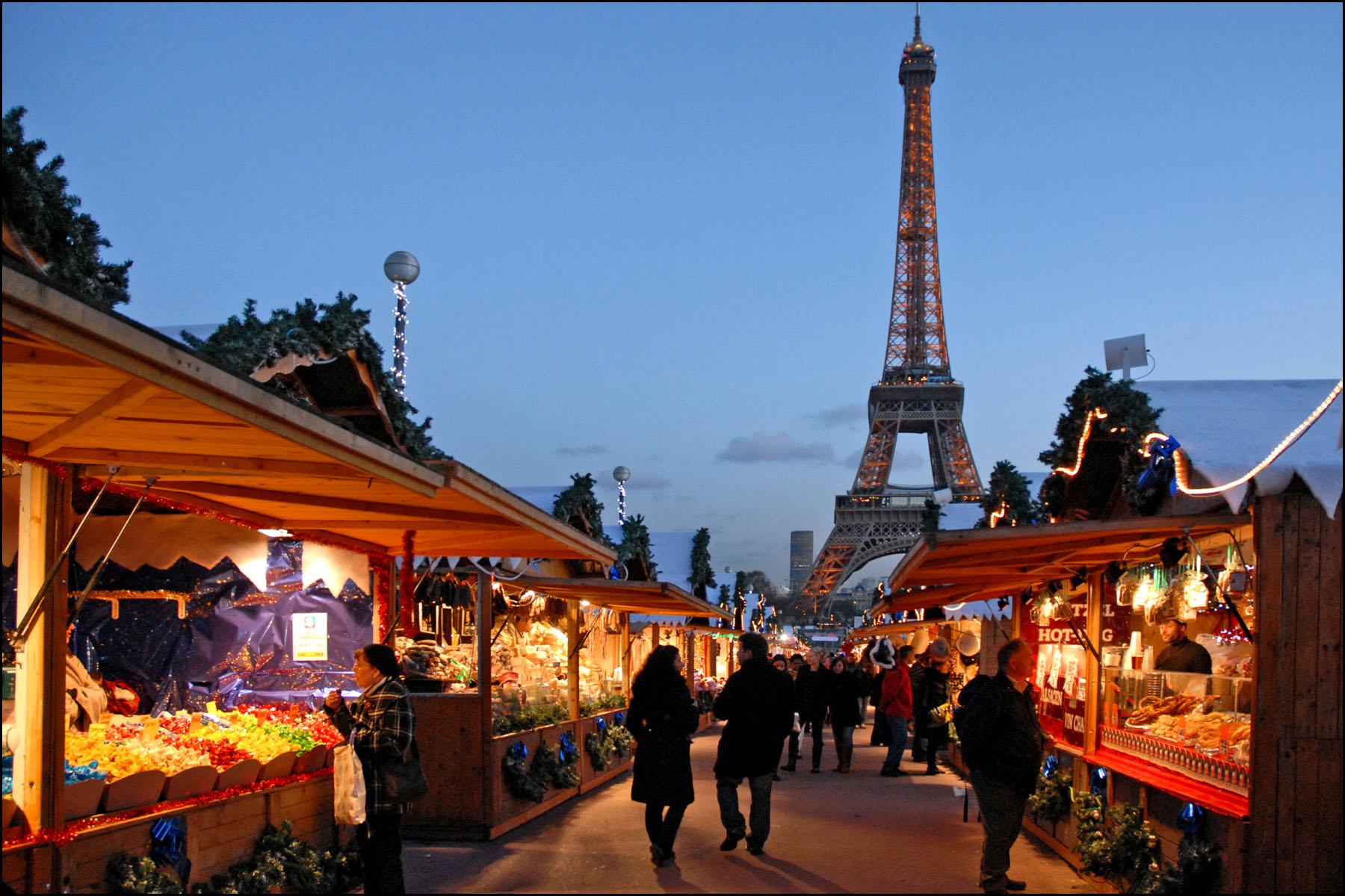 Paris en hiver offre de nouvelles saveur comme sur le marché du Trocadéro