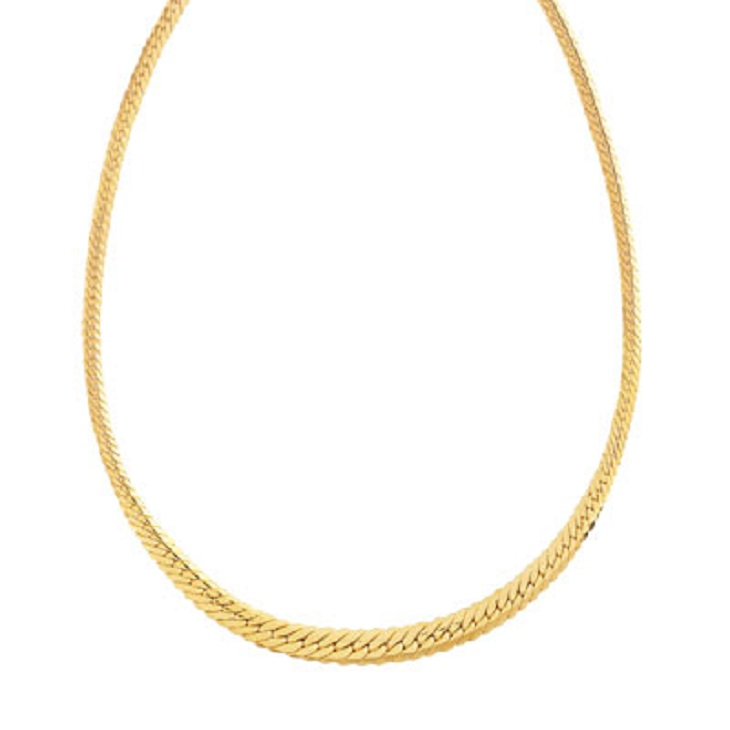 Collier maille or