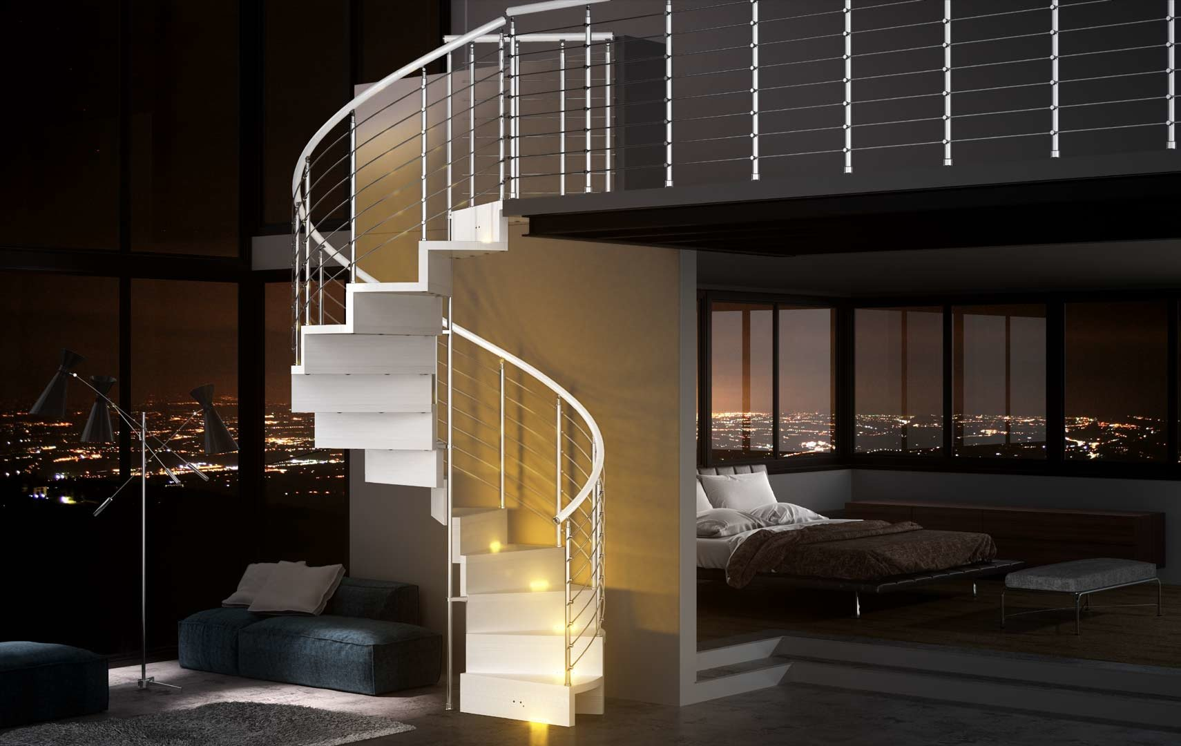 escalier en colima on comment poser cet escalier design. Black Bedroom Furniture Sets. Home Design Ideas